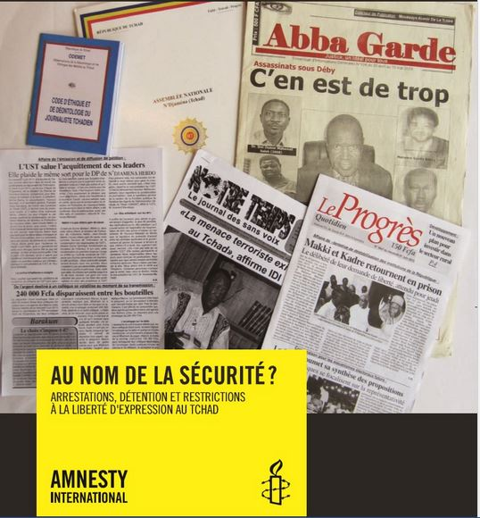 Rapport d'Amnesty International sur le Tchad pour l'an 2013.