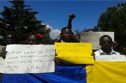 Article : Quatrième jour de manifestation des étudiants tchadien en Algérie