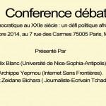 Conférence débat: l'alternance démocratique au XXIe siècle : un défi politique afro-africain ou intercontinental ?